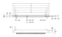 2 Row Receptacle, Plug Pattern, Compliant