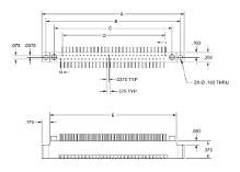 2 Row Plug, Surface Mount